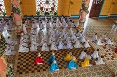 Cao Dai świątynia. Ho Chi Minh miasto. Wietnam Fotografia Stock