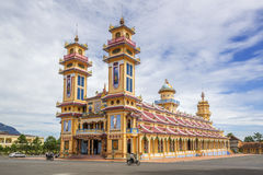 Cao Dai ιερό βλέπει το ναό, επαρχία Tay Ninh, Βιετνάμ Στοκ Φωτογραφία