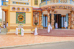 Cao Dai ιερό βλέπει το ναό, επαρχία Tay Ninh, Βιετνάμ Στοκ Εικόνες