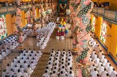Cao Dai στο ναό Στοκ εικόνα με δικαίωμα ελεύθερης χρήσης