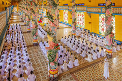 Cao Dai Holy See Temple, provincia de Tay Ninh, Vietnam Imagenes de archivo