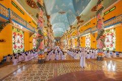 Cao Dai Holy See Temple, provincia de Tay Ninh, Vietnam Foto de archivo libre de regalías