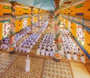 Cao Dai Holy See Temple, provincia di Tay Ninh, Vietnam Fotografia Stock Libera da Diritti