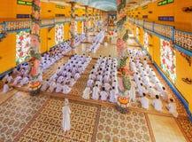 Cao Dai Holy See Temple, provincia di Tay Ninh, Vietnam Immagine Stock Libera da Diritti