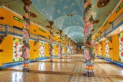 Cao Dai Holy See Temple Tay Ninh landskap, Vietnam arkivfoton
