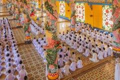 Cao Dai Holy See Temple Tay Ninh landskap, Vietnam fotografering för bildbyråer