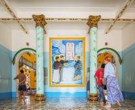 Cao Dai Holy See Temple Tay Ninh landskap, Vietnam royaltyfri fotografi