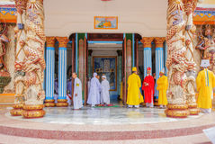 Cao Dai Holy See Temple, Tay Ninh province, Vietnam stock image