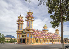 Cao Dai Holy See Temple, Tay Ninh province, Vietnam Royalty Free Stock Photos