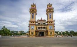 Cao Dai Holy See Temple, Tay Ninh-Provinz, Vietnam Stockfotos