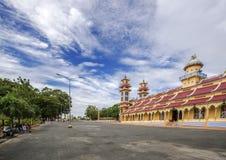 Cao Dai Holy See Temple, Tay Ninh-Provinz, Vietnam Stockbild