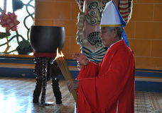 Cao Dai Priest. In Vietnam Royalty Free Stock Photography