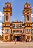Cao Dai tempel i Tây Ninh royaltyfri foto