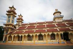Cao Dai-tempel in Tai Ninh (Vietnam) Stock Afbeelding