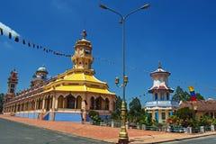 Cao Dai-tempel - Zuidelijk Vietnam Royalty-vrije Stock Foto's
