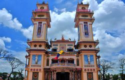 Cao Dai temple Royalty Free Stock Photos