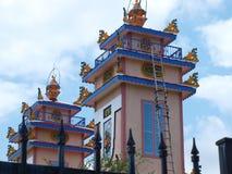 Cao Dai Temple in der Girlande Stockbild