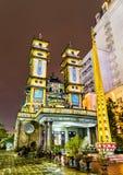 Cao Dai Temple en tonalidad, Vietnam imagenes de archivo