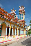 Cao Dai Temple i min Tho by nära Saigon, Vietnam royaltyfri fotografi