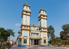 Cao Dai temple in Vietnam Royalty Free Stock Photos