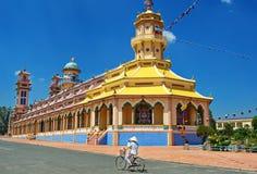 Cao Dai Thempele в южном Вьетнаме - caosdaism стоковая фотография
