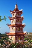 Cao Dai Thempele in the Southern Vietnam - caosdaism Stock Photography