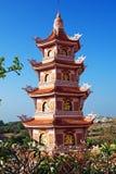 Cao Dai Thempele in Zuidelijk Vietnam - caosdaism Stock Fotografie