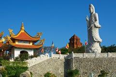 Cao Dai Thempele in Zuidelijk Vietnam - caosdaism Royalty-vrije Stock Foto