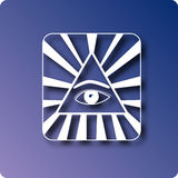Cao Daism. Cao dai symbol with the all knowing eye stock illustration
