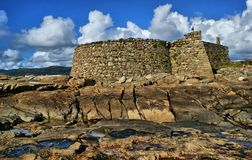 Cao forteca w Vila Praia De Ancora (Gelfa) Zdjęcie Royalty Free