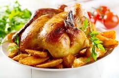 Całość piec kurczaka Obrazy Royalty Free