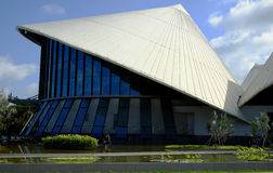 Cao Van Lau theatre, conical hat building Stock Image