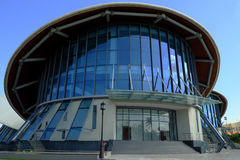 Cao Van Lau theatre, conical hat building Royalty Free Stock Photos