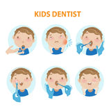 Caçoa o dentista Fotografia de Stock