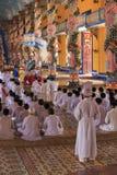 Caodai tempel nära Ho Chi Minh City, Vietnam Royaltyfri Fotografi