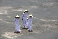 Caodai tempel nära Ho Chi Minh City, Vietnam Fotografering för Bildbyråer