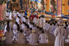 Caodai tempel nära Ho Chi Minh City, Vietnam Royaltyfria Foton