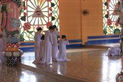 Caodai temple near Ho Chi Minh City, Vietnam Stock Images