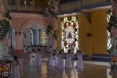 Caodai temple near Ho Chi Minh City, Vietnam Stock Photography
