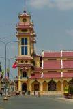 Caodaistic寺庙 tay的ninh 越南 免版税库存图片