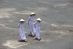 Caodaitempel dichtbij Ho Chi Minh City, Vietnam Stock Afbeelding