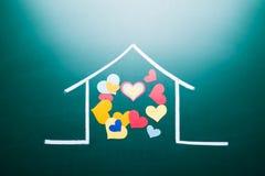 Caoncept di amore della famiglia Immagine Stock Libera da Diritti