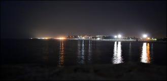 Caorle di notte dall'Italia Fotografia Stock Libera da Diritti