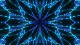 Caos cósmico abstracto que coloca el fondo animado Contexto simétrico inconsútil del caleidoscopio de rayos hipnóticos de oro líq ilustración del vector