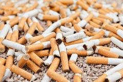 Caos caduto delle sigarette Fotografie Stock Libere da Diritti