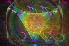 Caos criativo da folha de prova atual colorida do sumário, dinâmica da mágica do projeto ilustração stock