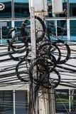 Caos de cables y de alambres Imagen de archivo