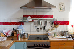 Caos de la cocina imágenes de archivo libres de regalías
