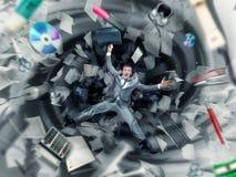 Caos de la oficina imagen de archivo libre de regalías