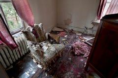 Caos de la sala de estar Fotos de archivo libres de regalías
